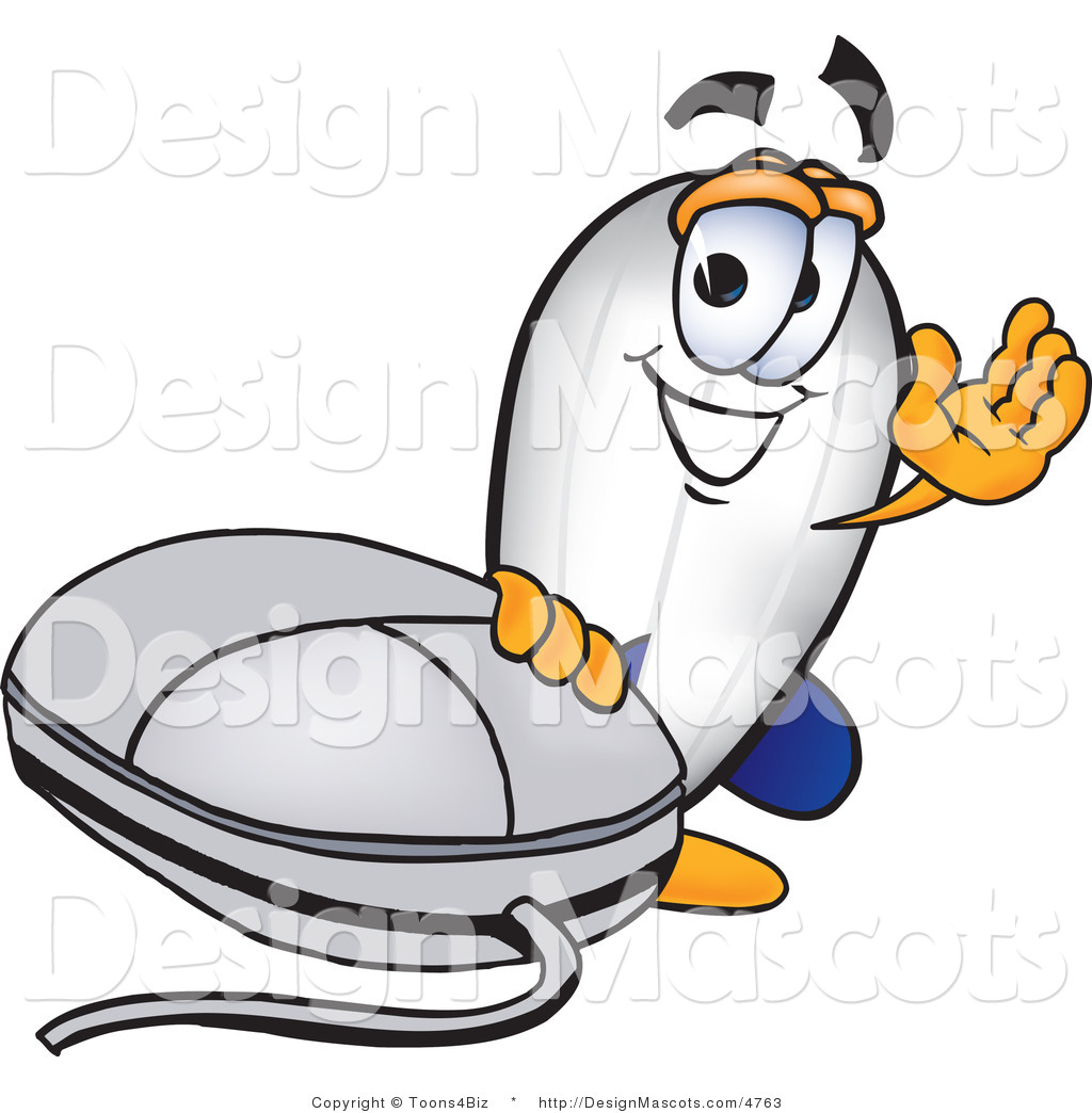 Design Cartoon Character Free : Clipart of a blimp mascot cartoon character by mouse