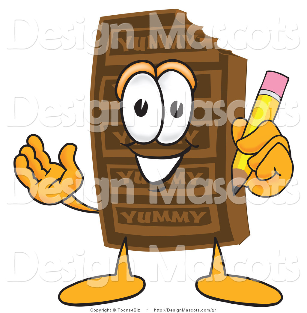Chocolate Candy Bars Clip Art Clipart of a chocolate candy