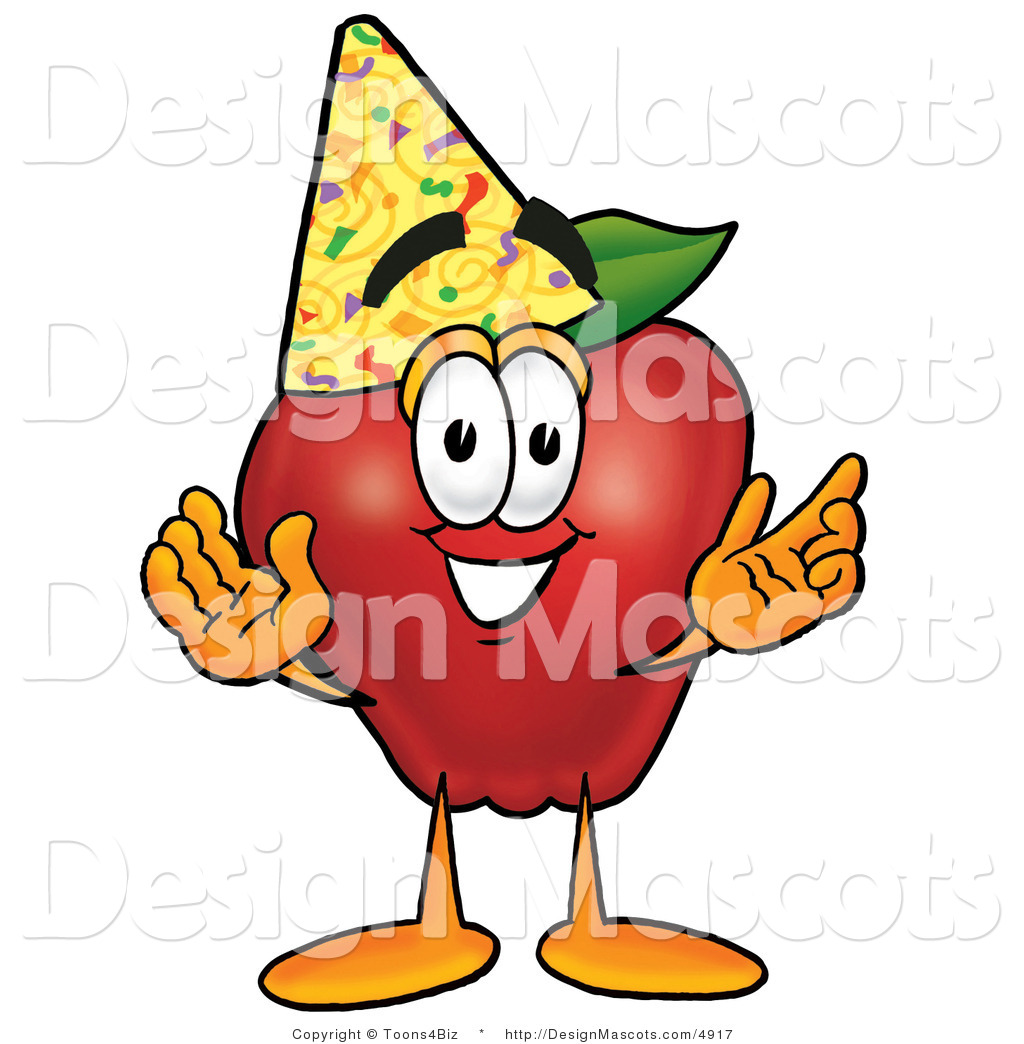 Cartoon Characters Birthdays : Clipart of a red apple royalty free by toons biz