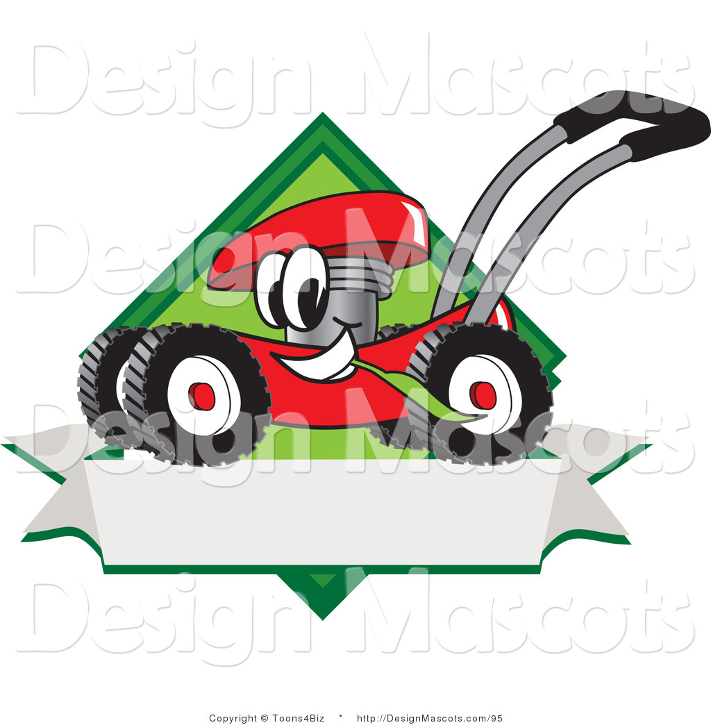 Clipart Of A Red Lawn Mower Royalty Free By Toons4biz 95