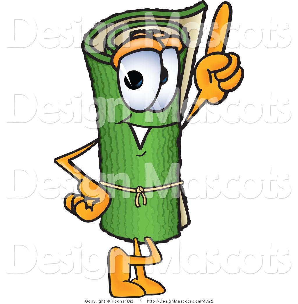 A Cartoon Character That Is Green : Stock vector mascot cartoon of a friendly green carpet