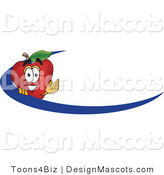 Clipart of a Apple Mascot - Royalty Free by Toons4Biz