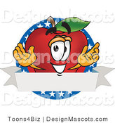 Clipart of a Apple - Royalty Free by Toons4Biz