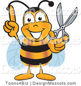 Clipart of a Bee Mascot Cartoon Character - Royalty Free by Toons4Biz