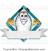 Clipart of a Blimp Mascot Cartoon Character - Royalty Free by Toons4Biz