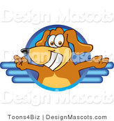 Clipart of a Brown Dog Mascot Cartoon Character Logoaca - Royalty Free by Toons4Biz