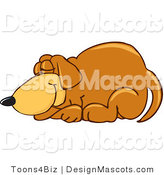 Clipart of a Brown Dog Mascot Cartoon Character - Royalty Free by Toons4Biz