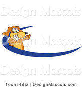 Clipart of a Brown Dog Mascot Cartoon - Royalty Free by Toons4Biz