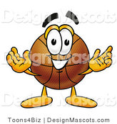 Clipart of a Friendly Basketball Character Sports Mascot - Royalty Free by Toons4Biz