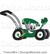 Clipart of a Green Lawn Mower - Royalty Free by Toons4Biz
