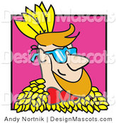 Clipart of a Happy Caucasian Man - Royalty Free by Andy Nortnik