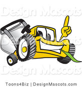 Clipart of a Lawn Mower Mascot - Royalty Free by Toons4Biz