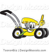 Clipart of a Lawn Mower - Royalty Free by Toons4Biz
