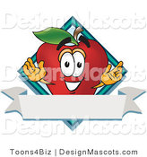 Clipart of a Red Apple Mascot - Royalty Free by Toons4Biz