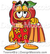 Clipart of a Red Apple - Royalty Free by Toons4Biz