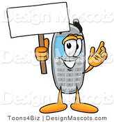Clipart of a Wireless Cell - Royalty Free by Toons4Biz