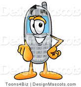 Clipart of a Wireless Telephone - Royalty Free by Toons4Biz