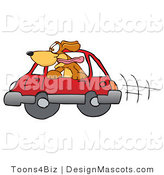 Clipart of ABrown Dog Mascot Cartoon Character Sticking His Head out of Window - Royalty Free by Toons4Biz