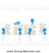 February 7th, 2014: Illustration of 3d Blue People Assembling the Word EFFECT by Andresr