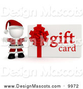 Illustration of a 3d Santa with a Christmas Gift Card by Andresr