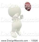 Illustration of a 3d Teeny Person Playing American Football by