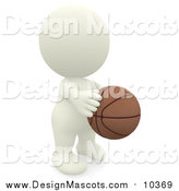 Illustration of a 3d White Guy Playing Basketball by Andresr