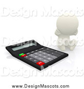 February 11th, 2014: Illustration of a 3d White Man Stressing by a Calculator by Andresr