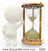 November 15th, 2015: Illustration of a 3d White Person with an Hourglass by Andresr
