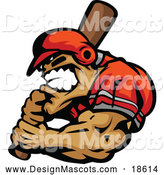 January 31st, 2018: Illustration of a Aggressive Strong Baseball Player Mascot Holding a Bat by Chromaco