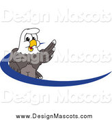 Illustration of a Bald Eagle Mascot over a Dash by Toons4Biz