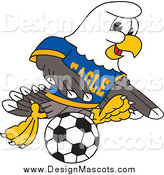 January 22nd, 2014: Illustration of a Bald Eagle Mascot Playing Soccer by Toons4Biz