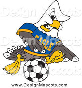 Illustration of a Bald Eagle Soccer Player by Toons4Biz