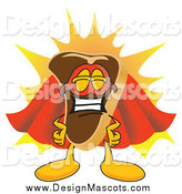 Illustration of a Beef Steak Character in a Super Hero Cape and Mask by Toons4Biz