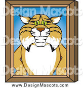 Illustration of a Bobcat Portrait by Toons4Biz