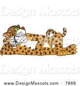Illustration of a Cheetah, Jaguar or Leopard Character Mascot Reclined by Toons4Biz