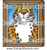 March 5th, 2014: Illustration of a Cheetah, Jaguar or Leopard Mascot Portrait by Toons4Biz