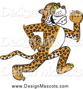 Illustration of a Cheetah, Jaguar or Leopard Mascot Running by Toons4Biz