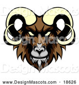 Illustration of a Demonic Ram Mascot by AtStockIllustration