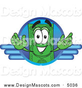 Illustration of a Dollar Bill Mascot on a Blue Business Logo by Toons4Biz