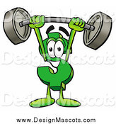 Illustration of a Dollar Symbol Mascot Lifting Heavy Barbell Above His Head by Toons4Biz