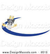 Illustration of a Electric Plug Mascot with a Blue Dash by Toons4Biz