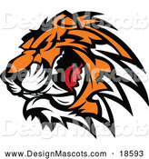 Illustration of a Ferocious Growling Tiger Mascot by Chromaco