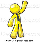 May 14th, 2014: Illustration of a Friendly Yellow Man Waving by Leo Blanchette