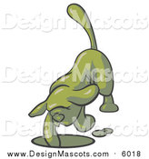 Illustration of a Green Tick Hound Dog Digging a Hole by Leo Blanchette