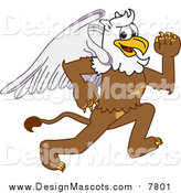 Illustration of a Griffin Mascot Running by Toons4Biz