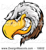 January 31st, 2018: Illustration of a Grinning Bald Eagle Mascot by Chromaco