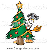 May 3rd, 2014: Illustration of a Hammer Mascot and Christmas Tree by Toons4Biz