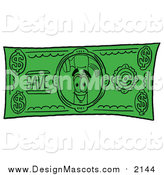 Illustration of a Hammer Mascot on a Dollar Bill by Toons4Biz