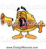 Illustration of a Hard Hat Mascot Screaming into a Megaphone by Toons4Biz