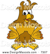 Illustration of a Hawk Mascot with Messy Hair by Toons4Biz